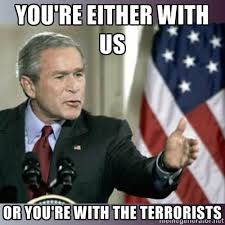 Prophetic words by President Bush
