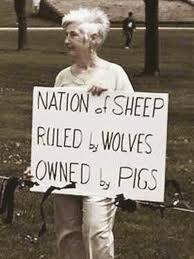 poorrichards blog: a nation of sheep being led to the slaughter?