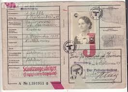 id card nazi j stamp