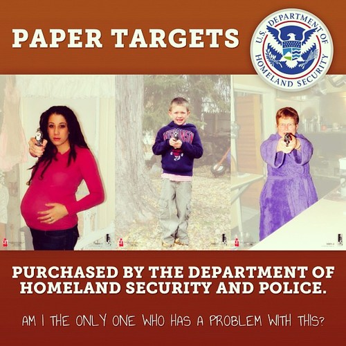 Meet the new terrorists according to DHS. This is a target practice sheet used by DHS agents.