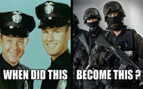 SIX REASONS MILITARIZED POLICE:  Are NOT real police
