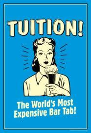 education tuition bar tab