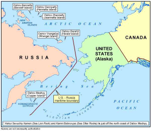 Don't forget about Obama's 2010 great giveaway of oil-rich Alaskan Islands which could be used as a prelude to invasion.