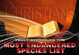 Christians and Americans, as a whole, on the endangered species list.