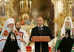 putin in church