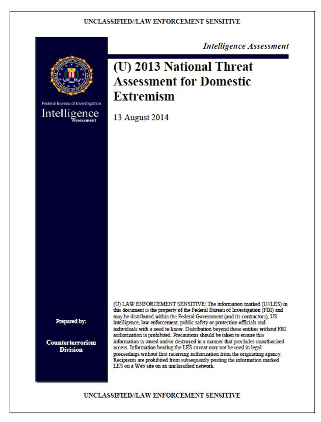 fbi terror report
