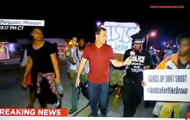 The CIA controlled ISIS is everywhere. This picture was taken during the first set of Ferguson riots in August.  This strongly suggests hatt ISIS is a CIA PSYOPS designed to promote violence and ultimately civil war. Helter Skelter Reborn!