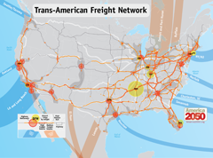 The new Trans-American Freight Network
