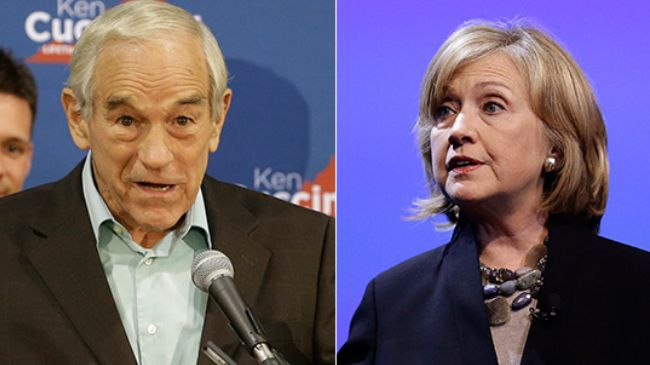 Ron Paul fears a Clinton presidency more than anything else.