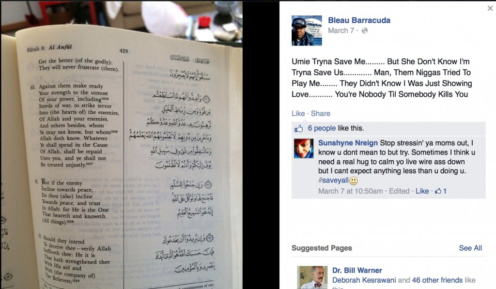 facebook page of muslim murderer of nypd