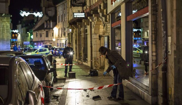 The crime scene in alla is invoked  as a dozen people are  mowed down in France.