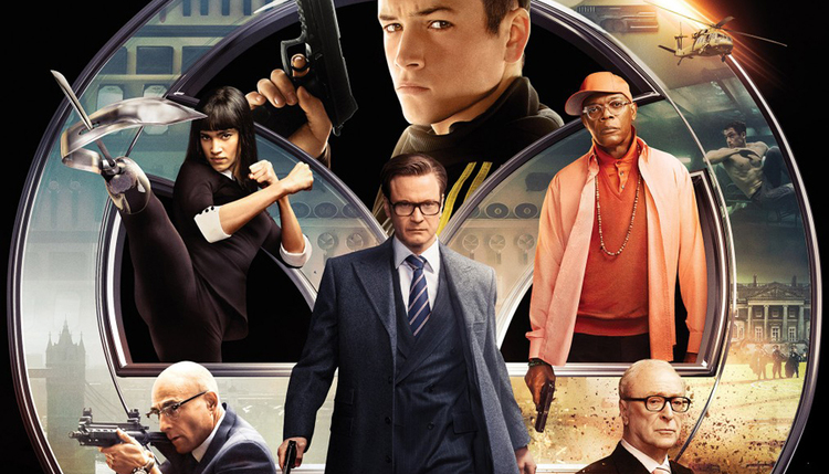 "The cast in the popular movie, the Kingsman, released last summer. In the movie, the ""intelligence agency"" had developed the ability to cause people to riot by changing the cell phone frequency."