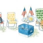 This is Google's graphic on their home page for the 4th of July.  Everything is here for a Fourth of July Celebration. But where are all the Americans