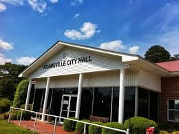 The Adamsville city hall representing less than 5,000 citizens.