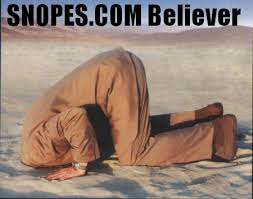 Snopes, the official debunker for the New World Order.