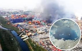 Tianjin explosion resulting from the rods from God.