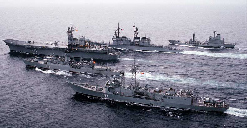 America Warships to China