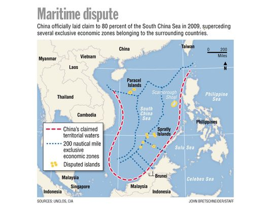 China's rapidly growing perimeter which will protect Chinese invasion forces when they attack Taiwan.