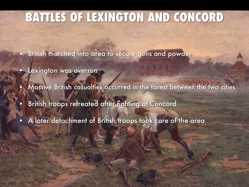 Without Lexington and Concord, there is no American Revolution. The British were after the Colonial guns.