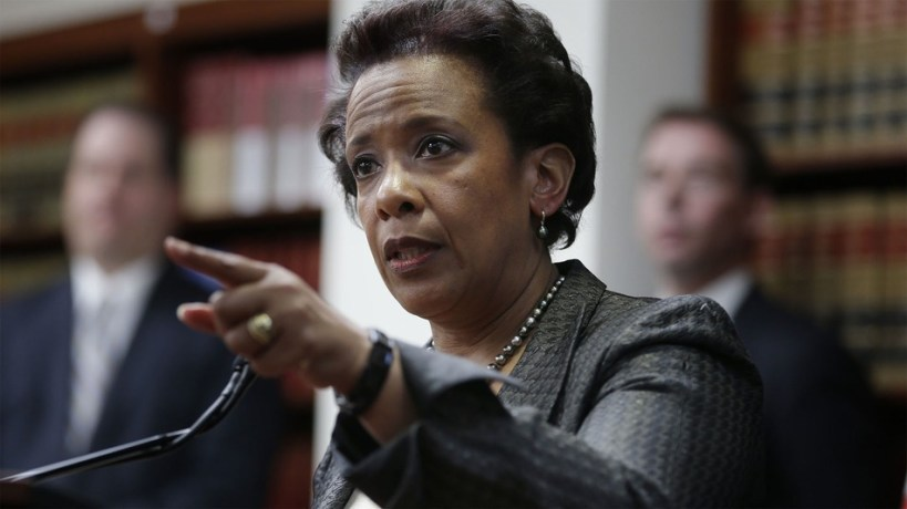 Attorney General Loretta  Lynch, another criminal in the long line of Obama administration minions.