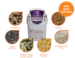 With 15% of all farmers quitting the business, you need to store your own food while you still can.. This is our Defender Pack. Each Defender Pack comes with 124 servings of our traditional GMO-Free, Easy-Fix meals plus a healthy supply of Organic Grains and Super Foods.The Defender Pack is a new way to look at what you store for Emergencies. Any family would be wise to start here when building their supplies.