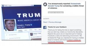 FB ASSASSINATE TRUMP PAGE