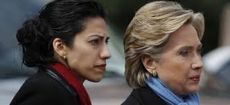 "Clinton and her ""friend"" Abedin"