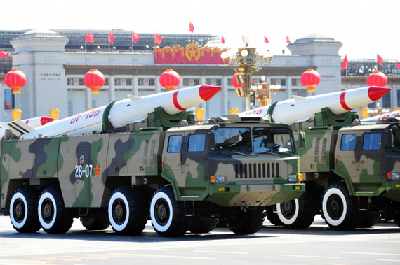 chinese nuclear weapons on display