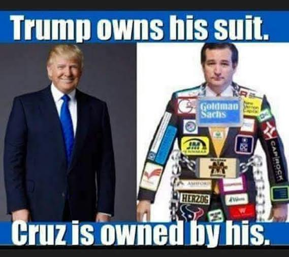 Lyin' Ted bought by the same corporations that he is pledging to fight against in order to return American jobs to the country