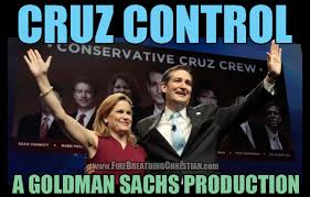 Ted Cruz is sleeping with the enemy. His wife is a senior VP at Goldman Sachs, the most corrupt banking institution outside the Federal Reserve. Goldman Sachs and its cronies is a major player in free trade agreements. She is also a regional head of the Council on Foreign Relations. You know, the Rockefeller guys who have wanted a one-world government and economy since the 1920's.