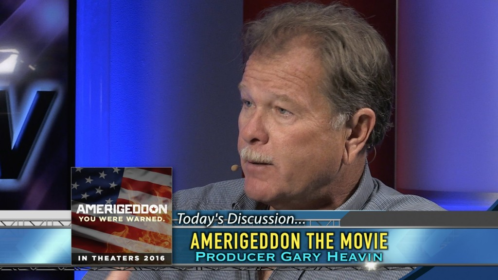 Gary Heavin, the producer of Amerigeddon. Now, the sole support for a million hurricane victims on Haiti.