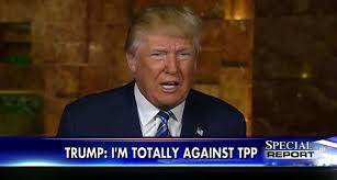 Trump Declaring How He Will Stop the TPP, From GoogleImages